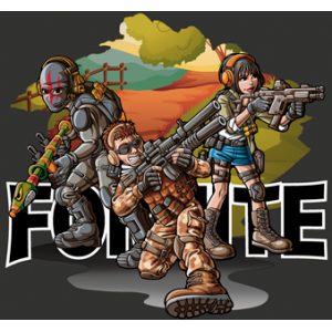 Camiseta Fortnite warriors