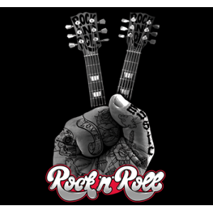 Camiseta Rock'n roll guitar