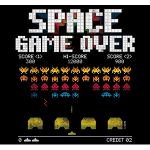 Camiseta Space Game over