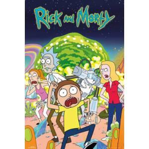 Póster Rick y Morty grupo