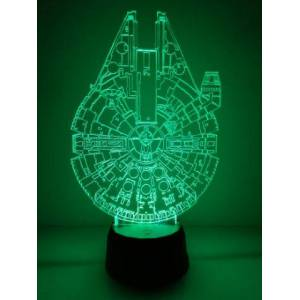 Lámpara 3D Halcón Milenario