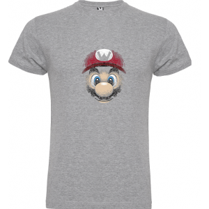 Camiseta Mario Bros face -...