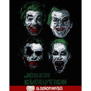 Camiseta Joker evolution -...