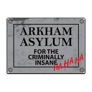 Placa Arkham asylum