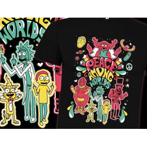Camiseta Peace among worlds...